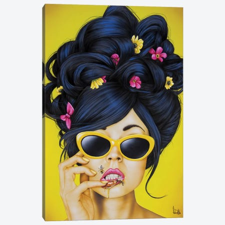 Honey Lips 3-Piece Canvas #SCR109} by Scott Rohlfs Canvas Art Print