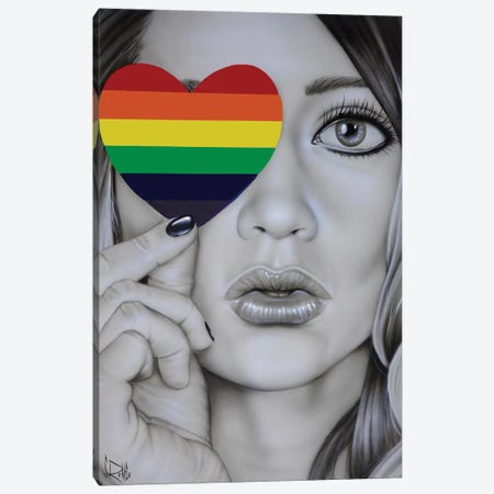 Love Is Love Canvas Print #SCR117} by Scott Rohlfs Canvas Print