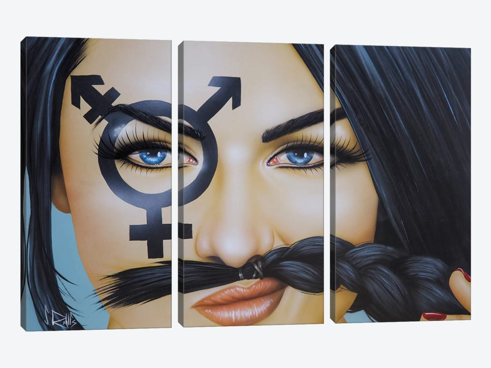 The Soul Has No Gender by Scott Rohlfs 3-piece Canvas Print