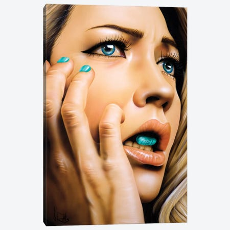 Chill Pill Canvas Print #SCR127} by Scott Rohlfs Canvas Artwork