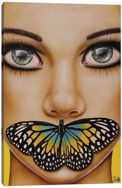 Butterfly Thoughts Canvas Art Print