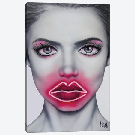 Neon Kisses Canvas Print #SCR130} by Scott Rohlfs Canvas Artwork