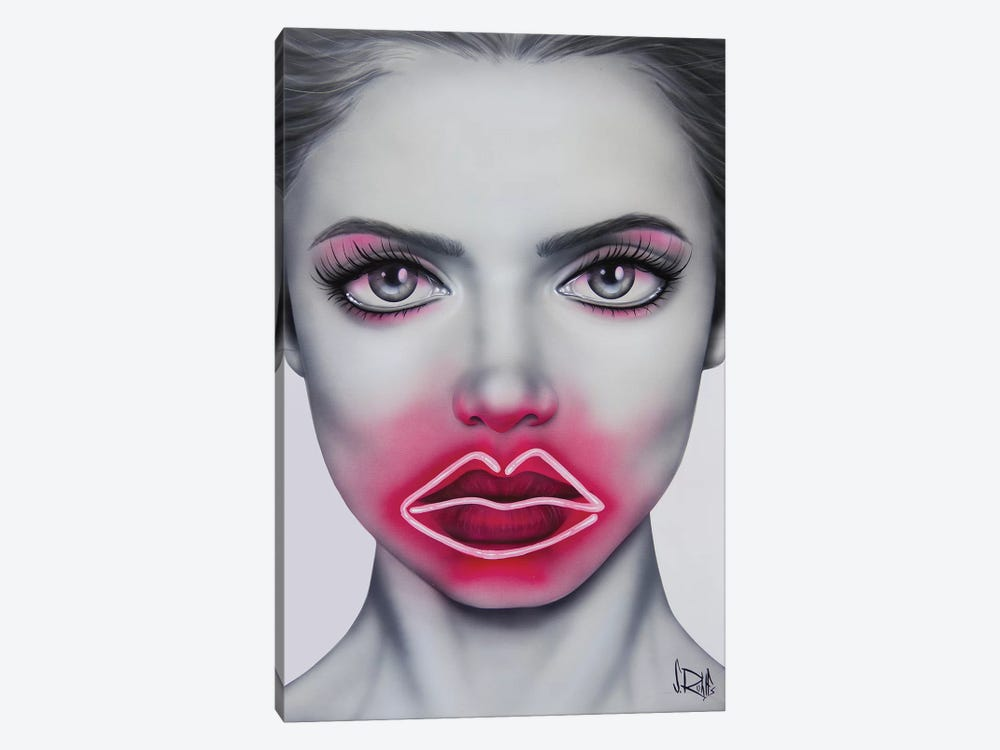 Neon Kisses by Scott Rohlfs 1-piece Canvas Wall Art