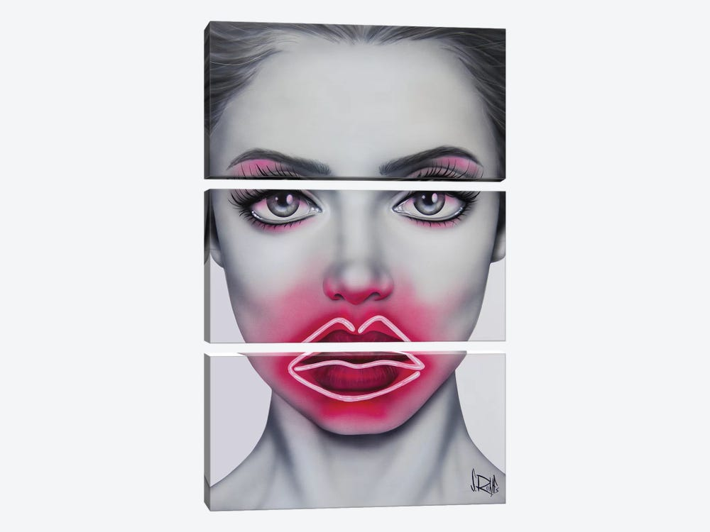 Neon Kisses by Scott Rohlfs 3-piece Canvas Art