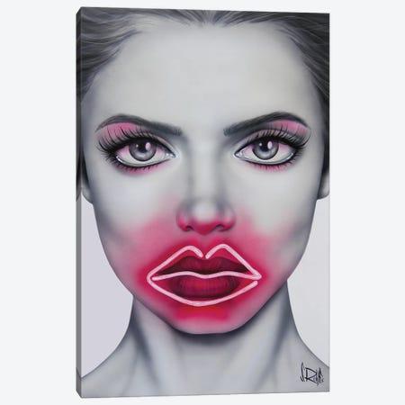 Neon Kisses Canvas Print #SCR130} by Scott Rohlfs Canvas Artwork
