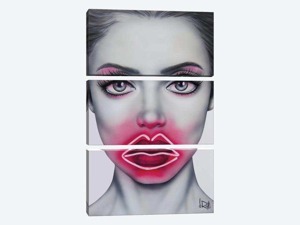 Neon Kisses by Scott Rohlfs 3-piece Canvas Art
