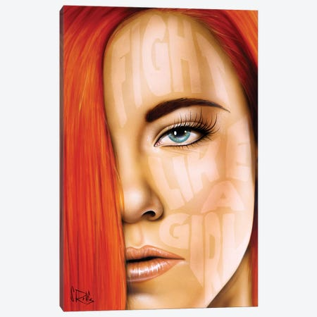 Fight Like A Girl Canvas Print #SCR139} by Scott Rohlfs Canvas Artwork