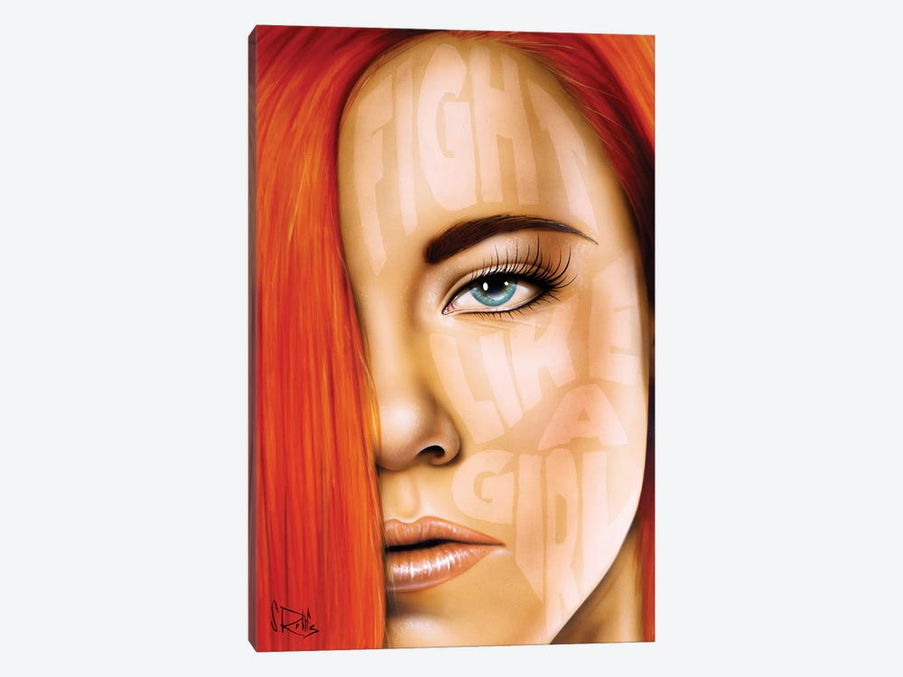 Fight Like A Girl by Scott Rohlfs 1-piece Canvas Art Print