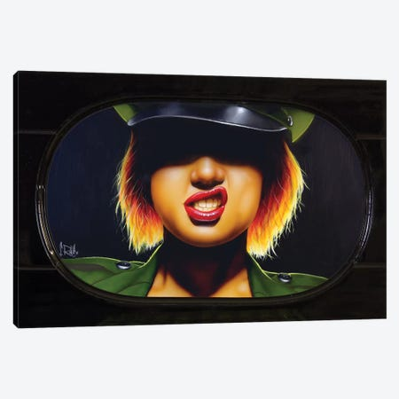 Captain Chaos Canvas Print #SCR13} by Scott Rohlfs Canvas Wall Art
