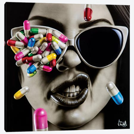 Love Is A Hard Drug To Quit Canvas Print #SCR144} by Scott Rohlfs Canvas Art