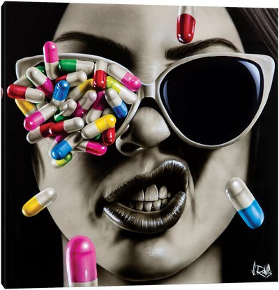 Love Is A Hard Drug To Quit by Scott Rohlfs Canvas Art Print