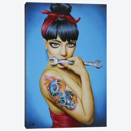 Gear Head Canvas Print #SCR26} by Scott Rohlfs Canvas Artwork