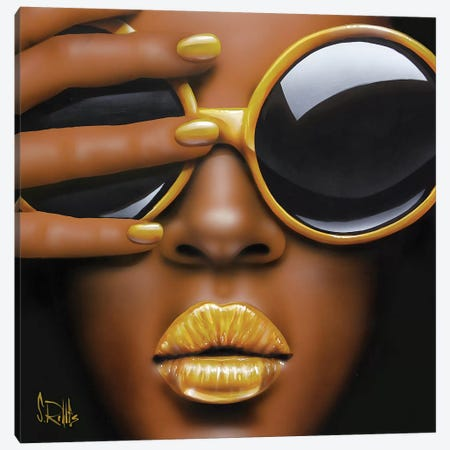 Goldilips Canvas Print #SCR27} by Scott Rohlfs Canvas Artwork