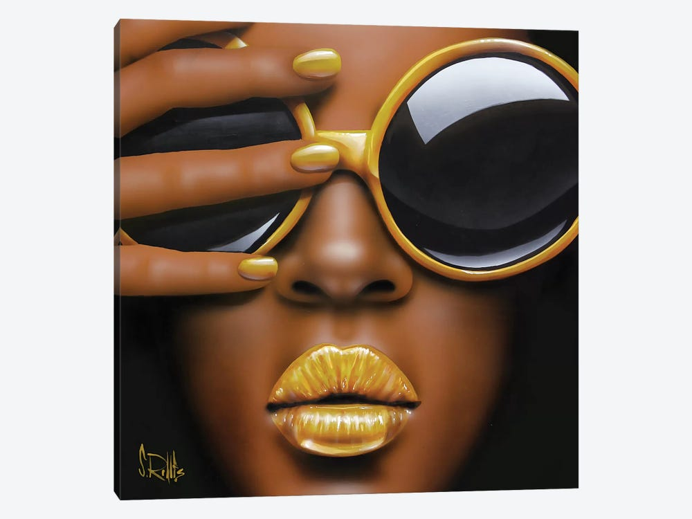 Goldilips by Scott Rohlfs 1-piece Art Print