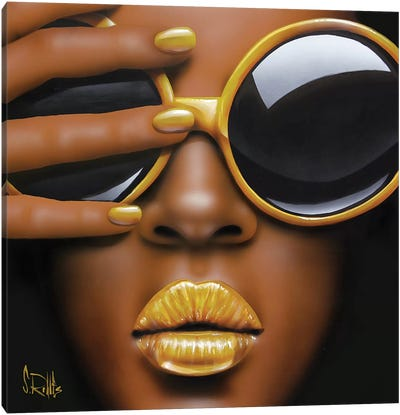 Goldilips Canvas Art Print