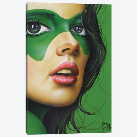 Green Beauty Canvas Print #SCR29} by Scott Rohlfs Canvas Art Print