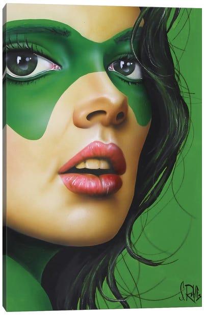 Green Beauty Canvas Art Print