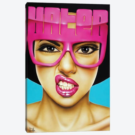 Haters Gonna Hate Canvas Print #SCR30} by Scott Rohlfs Canvas Wall Art