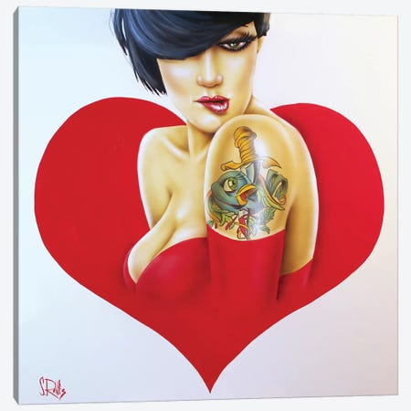 Heartbroken Canvas Print #SCR33} by Scott Rohlfs Canvas Artwork