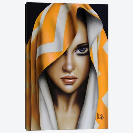 Kiss Me Canvas Print #SCR39} by Scott Rohlfs Canvas Artwork