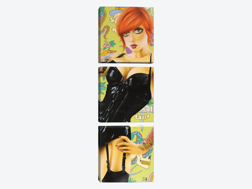 No Rest For The Wicked by Scott Rohlfs 3-piece Canvas Print