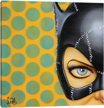 Bat-Girl I Canvas Art Print