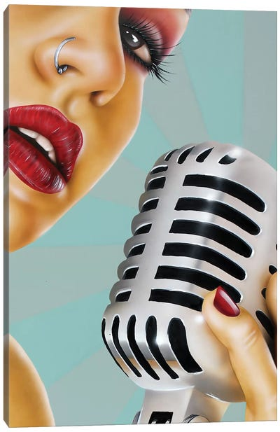 One Note Canvas Art Print