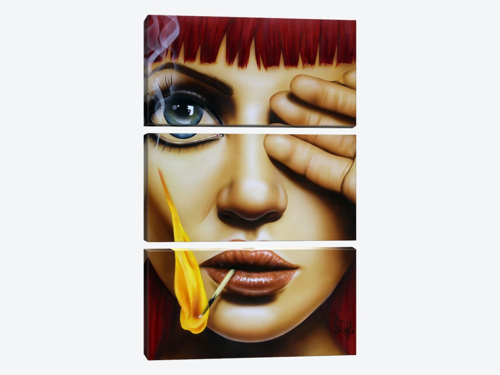 Playing With Fire by Scott Rohlfs 3-piece Canvas Wall Art