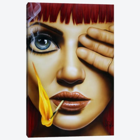 Playing With Fire Canvas Print #SCR57} by Scott Rohlfs Canvas Art Print