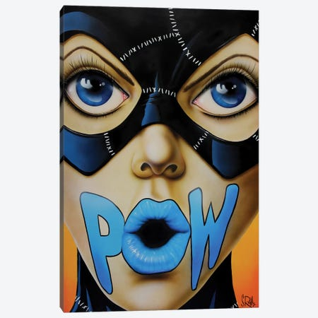 POW! Canvas Print #SCR60} by Scott Rohlfs Canvas Art Print
