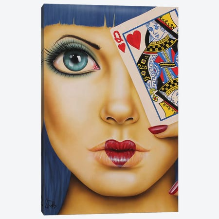 Queen Of Hearts Canvas Print #SCR61} by Scott Rohlfs Canvas Print