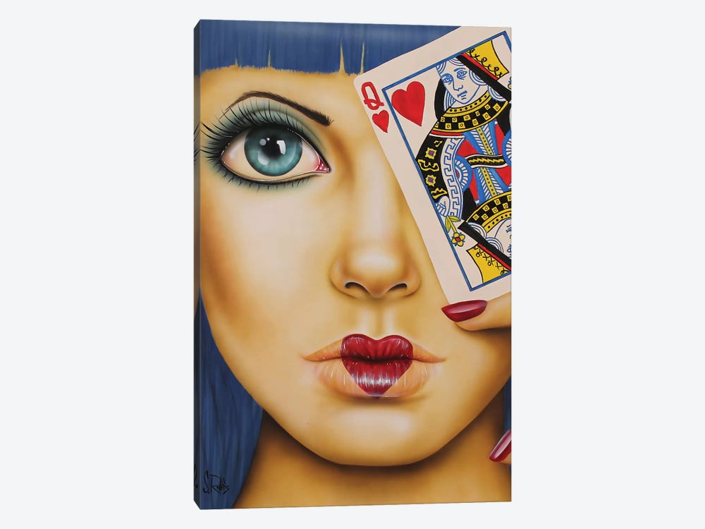 Queen Of Hearts 1-piece Canvas Art Print
