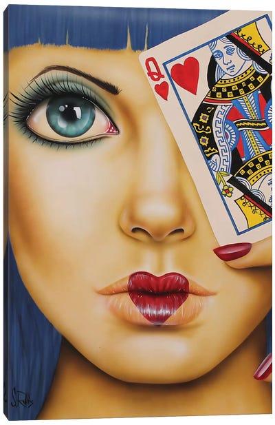 Queen Of Hearts Canvas Art Print