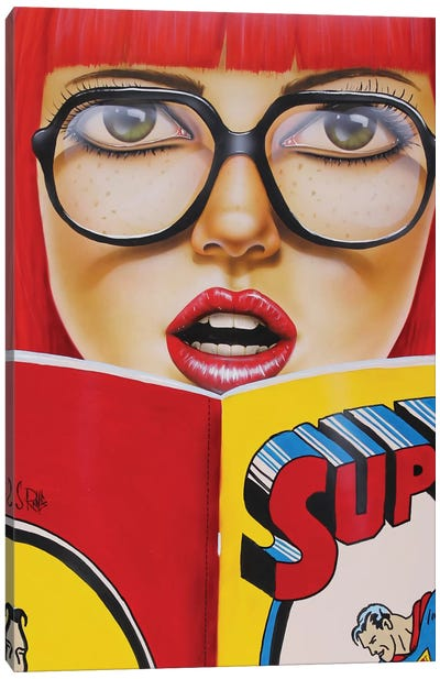 Super Reading Canvas Art Print