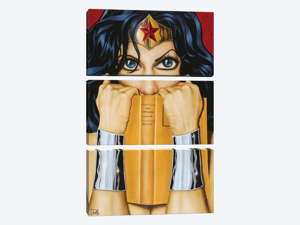 The Confident Woman by Scott Rohlfs 3-piece Canvas Print