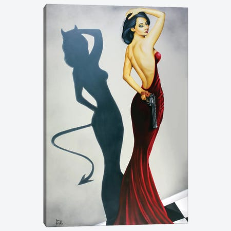 The Devil Inside Canvas Print #SCR73} by Scott Rohlfs Canvas Art