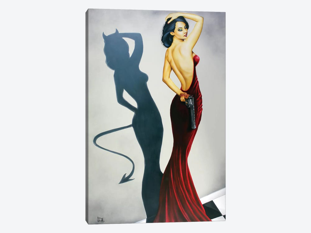 The Devil Inside 1-piece Canvas Art