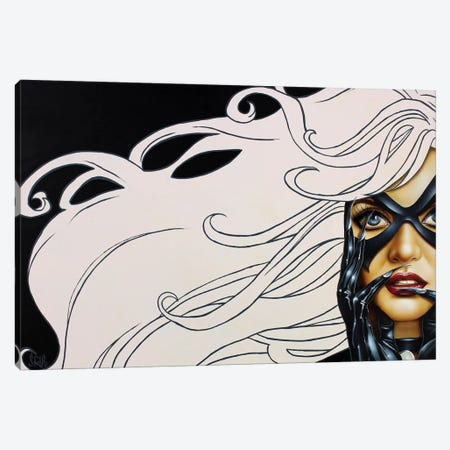 Black Cat 3-Piece Canvas #SCR7} by Scott Rohlfs Canvas Print