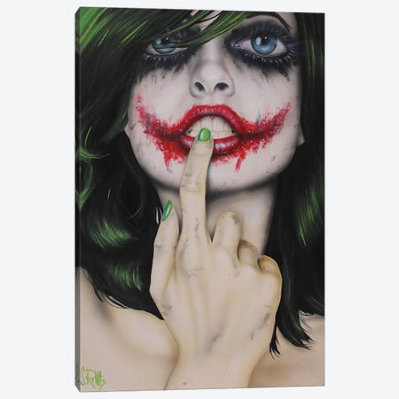Why So Serious Canvas Print #SCR81} by Scott Rohlfs Canvas Print