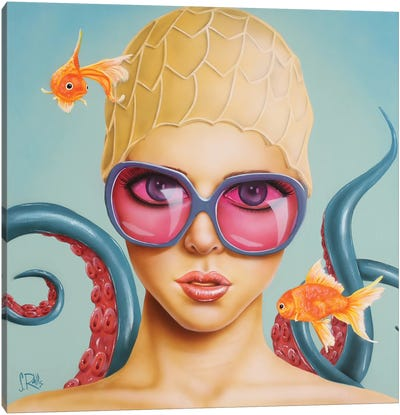 With The Fishes Canvas Art Print
