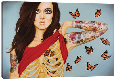 You Give Me Butterflies Canvas Art Print