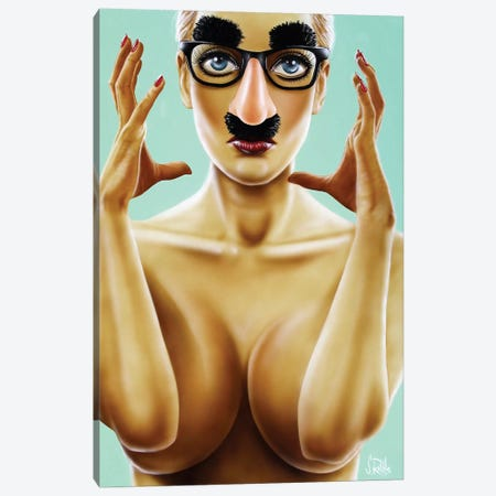 Stuck In This Skin Canvas Print #SCR89} by Scott Rohlfs Canvas Print