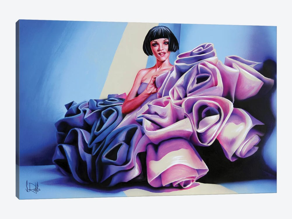 Colored Roses by Scott Rohlfs 1-piece Canvas Artwork