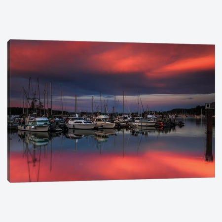Ganges Harbor Sunset Canvas Print #SCS1} by Shawn & Corinne Severn Canvas Art Print