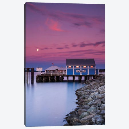 Moon Over Sidney Fish Market Canvas Print #SCS3} by Shawn & Corinne Severn Art Print