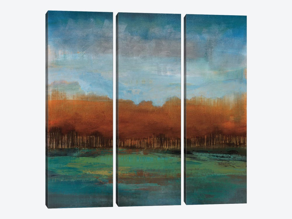 Traveling to the Edge by Stacy DAguiar 3-piece Canvas Print