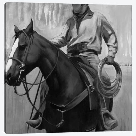 The Search II In Black & White Canvas Print #SDA21} by Stacy DAguiar Canvas Art Print