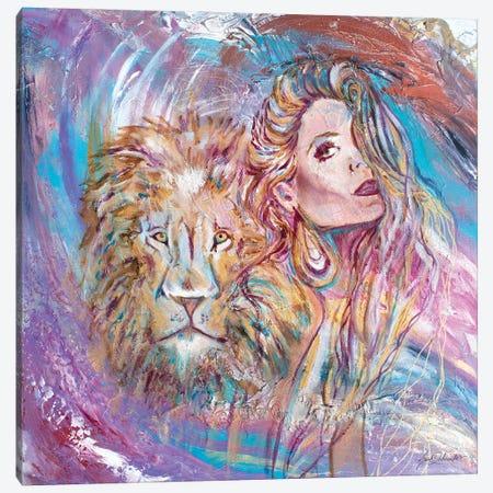 Angel Of Strength Canvas Print #SDD1} by Sarah Dalesandro Canvas Artwork