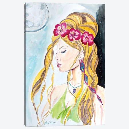 Bali Goddess Canvas Print #SDD2} by Sarah Dalesandro Canvas Artwork