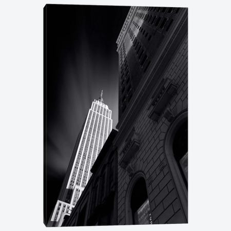The Skyscraper of NYC in B&W Canvas Print #SDG101} by Sebastien Del Grosso Canvas Artwork
